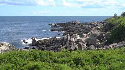 Rocky Beach on Coastline 4k