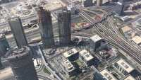 Aerial of Dubai Highway Roads 4k