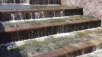 Water-flowing-down-stair-steps-4k