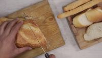Cutting-bread-top-view