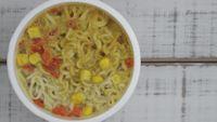 Instant noodles timelapse