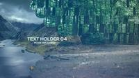 Ground Glass Parallax 4K Opener After Effects Template