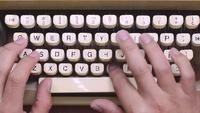 Schreiben in alte Schreibmaschine
