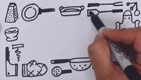 kitchen stuff speed drawing