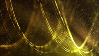 Golden Falling Hoops 4K Motion Background