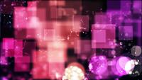 Pink and purple bokeh lights with rounded and square shapes