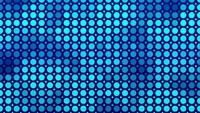 Pattern of big and small circles fading on dark blue background