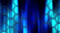 Blue hexagonal 4K pattern going to up on blue background