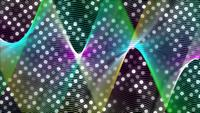 Multi color mesh formed with lines on dotted 4K background