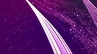 Loop of bright lines forming several grids floating on 4K purple background