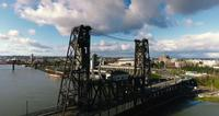 4k uhd drone portland oregon bridge river commute_ fernando