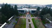 4k uhd drone portland oregon nike head quarters fly over_ fernadno