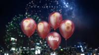 Happy New Year Balloons Custom Greeting After Effects Template