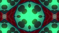 Red-and-green-circles-in-a-kaleidoscope