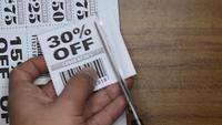 Cutting-coupons