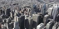 Luftdrohne 4K Schuss von Liberty Place und eine Gruppe von Gebäuden auf Philadelphia