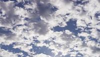 Time lapse of altocumulus clouds moving from right to left on blue sky in 4K