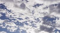 Time lapse of altocumulus clouds moving from right to left of the scene in 4K