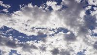 Time lapse of clear and dark altocumulus clouds moving from right to left od the scene in 4K