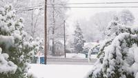 Looking out a window on a Snow Day | Free Stock Footage