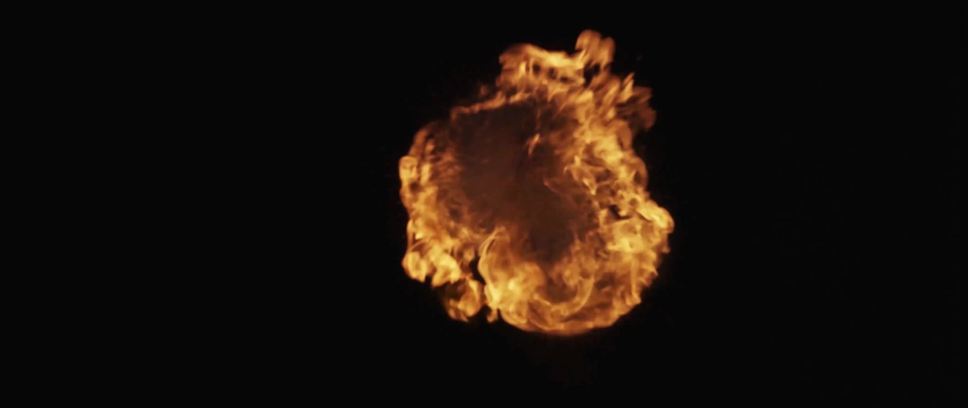 Spectacular fireball burning and floating in darkness in 4K - Free