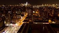 Spectacular nocturnal timelapse of New York City from skyscraper in 2K