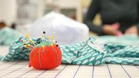 Pin cushion on table at maker studio | Free Stock Footage