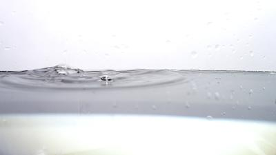 Drops of Water Splashing on Lens