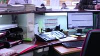 A recepcion desk in motion