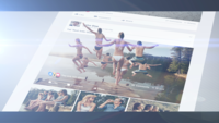 3D Social Media Foto Pop Out Timeline Geschichte