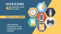 Ícones de colmeia 40 Pack After Effects Template