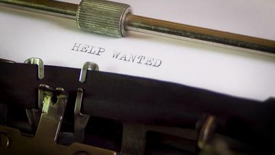 Typewriter Help Wanted Hiring Fired