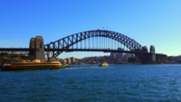 Wide Shot of Harbor Bridge 4K