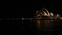 Wide Shot of Opera House at Night 4K