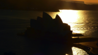 Tight Shot of Opera House during Sunrise 4K