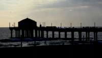 pier op het strand 4k