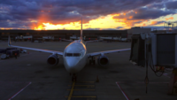 Airplane Parking at Airport 4K