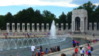 World War II Monument in Washington DC 4K