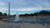 Washington Monument with World War II Monument 4K