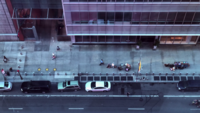 New York City Sidewalk verkeer 4k