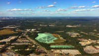 Vista aérea do horizonte de Atlanta 4K