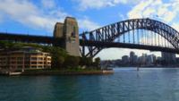 Harbor-bridge-from-water-4k