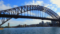 Tight Shot of Harbor Bridge 4K