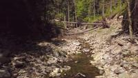 Fly Over A Creek doorsturen in 4K