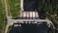 Dam Wall From Above View In 4K