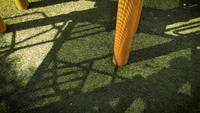 Shadows Of Children Playing In Playground