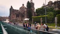People Walking Near Main Square And Metropolitan Cathedral