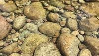Rocks in the creek in 4K
