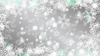 beautiful snowflakes rotating on a grey background lens flare bokeh