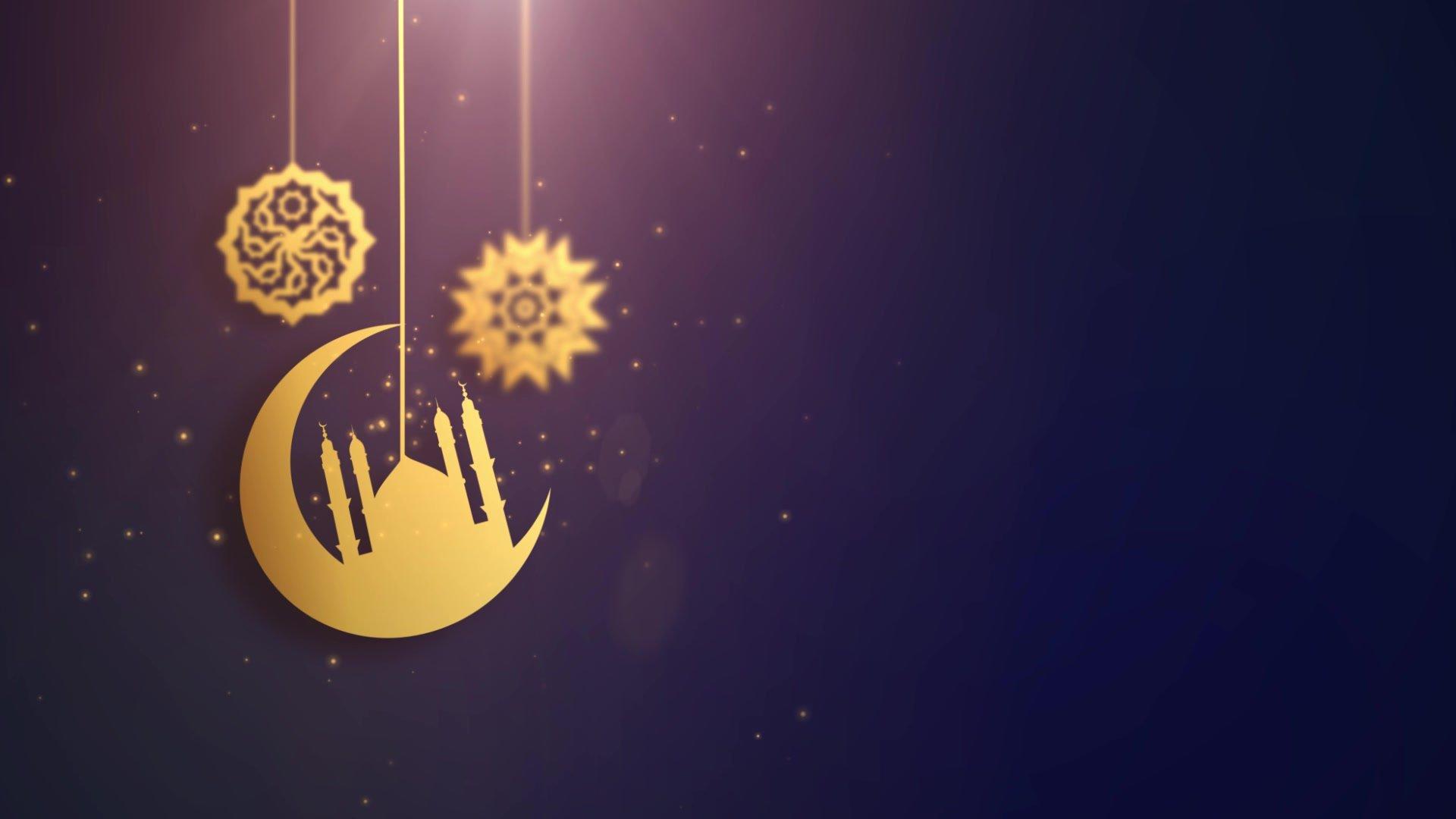 Ramadan Ramazan Eid Mubarak Arabic Symbols Falling Down On String Blue Background Free Hd Video Clips Stock Video Footage At Videezy